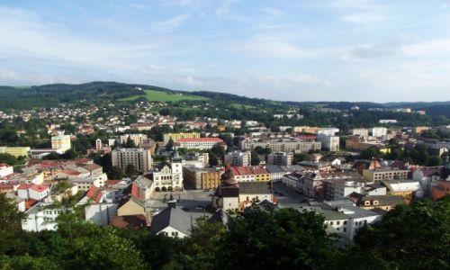 CZECHY / Przy granicy z Polską / Nachod / Nachod widziane ze wzgórza zamkowego