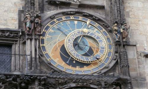 Zdjecie CZECHY / - / Praga / Orloj z bliska