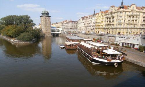Zdjecie CZECHY / Praga / Wełtawa / Widok na Wełtaw