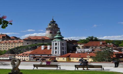 CZECHY / Czeski Krumlow / taras widokowy / Czeski Krumlow