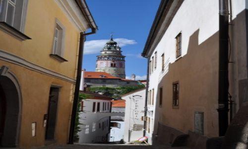 Zdjęcie CZECHY / Czeski Krumlow / Czeski Krumlow / wąskie uliczki
