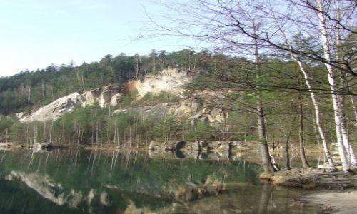 Zdjęcie CZECHY / Adrszpach / Skalne Miasto / adrszpaskie jezioro