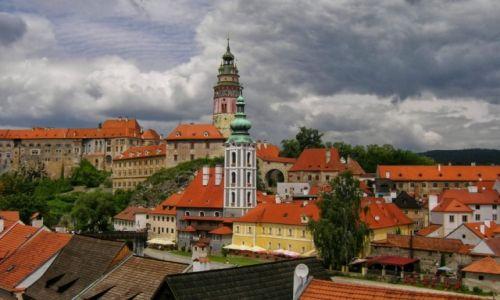 Zdjęcie CZECHY / Czechy południowe / Czeski Krumlov / Średniowieczne miasteczko