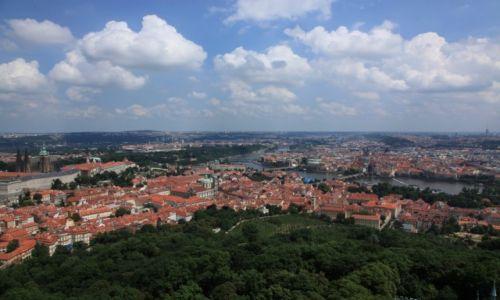 CZECHY / Praga / Wzgórze Petřín / Praga, z wieży Petřín