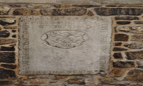 Zdjęcie CZECHY / Morawy / Brno / Brno, katedra, płyta grobowa mistrza masońskiego