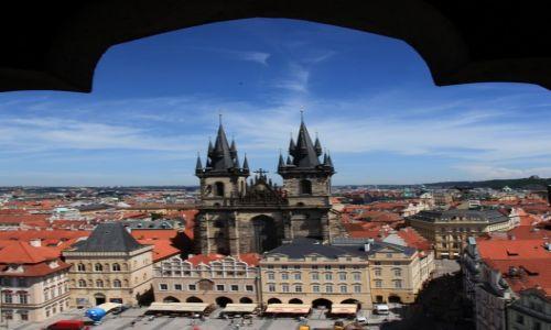 CZECHY / Praga / Ratusz Staromiejski / Widok z wieży ratusza