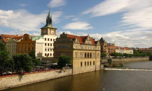 Zdjecie CZECHY / Praga / Praga / widok z mostu Karola