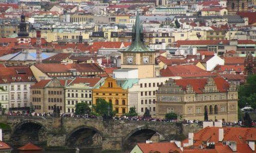 Zdjęcie CZECHY / Praga / Praga / widok na most Karola