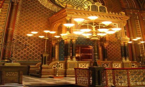 Zdjęcie CZECHY / Praga / Josefov / Synagoga Hiszpańska