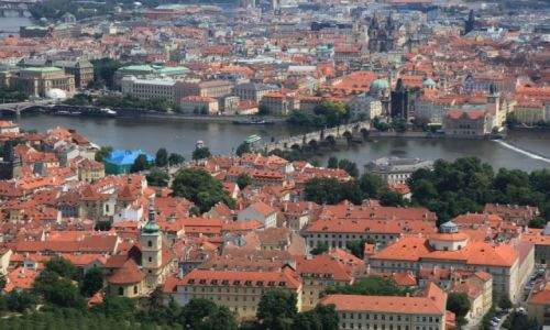 Zdjecie CZECHY / Praga / Wieża Petrin / Most Karola