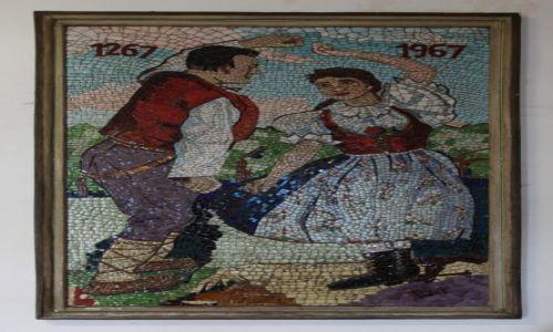 Zdjecie CZECHY / Morawy / Rożnov, Dworzec kolejowy / Jubileusz (mozaika)