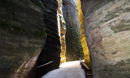 Zdjecie CZECHY / astrabach / skalne miasto / odcienie skał