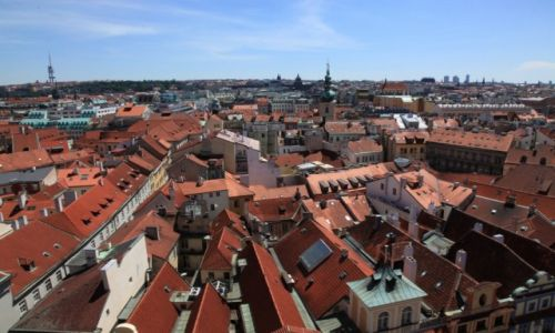 Zdjęcie CZECHY / Praga / Nad Wełtawą / Dachy Pragi