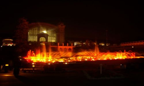 Zdjecie CZECHY / praga / krizikova fontanna / światło woda dź