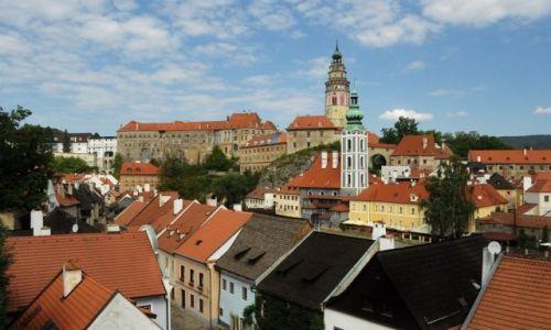 Zdjęcie CZECHY / Czechy / Krumlov / Krumlov, panorama
