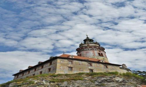 Zdjęcie CZECHY / Czechy / Krumlov / Krumlov, widok na zamek