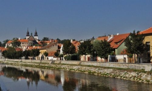 Zdjęcie CZECHY / Czechy / Trebic / Trebic, panorama miasta