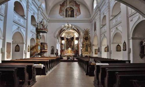 Zdjęcie CZECHY / Czechy / Trebic / Trebic, miasto, kościół