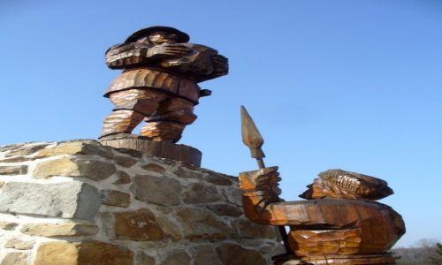 Zdjęcie CZECHY / Śląsk Morawy / Ostrawa / Rzeźby w drewnie na zamku