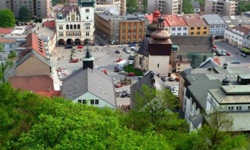 Zdjęcie CZECHY / Kraj Hradecki / Nachod / Widok z zamku na miasto.