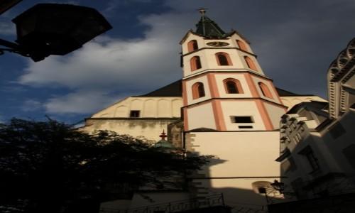 Zdjęcie CZECHY / Południowe Czechy / Czeski Krumlov / Słoneczna wieża