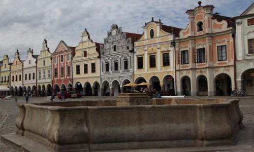 Zdjęcie CZECHY / Południowe Czechy / Telcz / Pastelowe kamieniczki