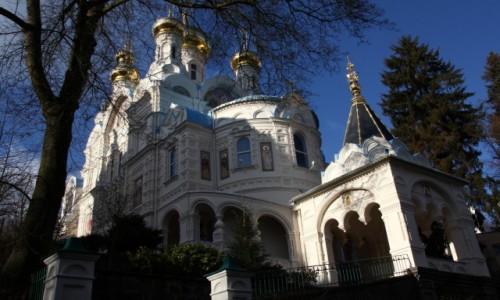 Zdjęcie CZECHY / Zachodnie Czechy / Karlove Vary / Cerkiew Św. Piotra i Pawła
