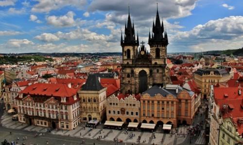 Zdjęcie CZECHY / Praga / Rynek Staromiejski / Kościół Matki Bożej przed Tynem