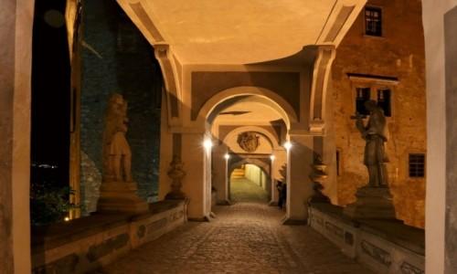 Zdjęcie CZECHY /  kraj południowoczeski / Ceski Krumlov / zamek nocą