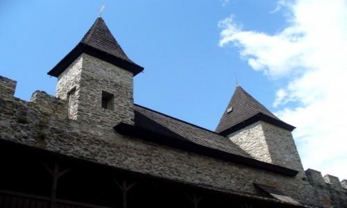 Zdjęcie CZECHY / Morawy Północne / Sovinec / Mury obronne z bastyjami