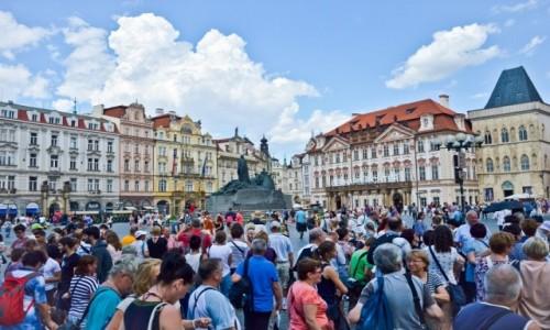 Zdjecie CZECHY / Praga / Rynek Staromiejski, Praga / Jaki Tu Spokój
