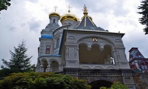 Zdjecie CZECHY / - / Karlowe Wary / -cerkiew św. Piotra i Pawła-