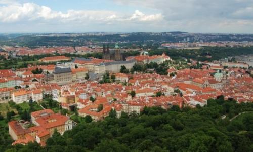 CZECHY / Czechy / Praha / Widok z wieży Petrzyńskiej