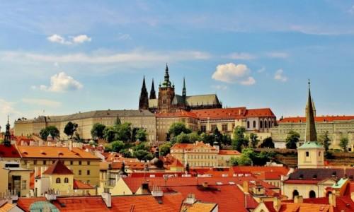 CZECHY / Kraj środkowoczeski / Praga / Widok na Hradczany
