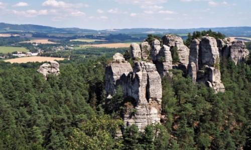 Zdjęcie CZECHY / Czeski Raj / Hruboskalsko / z Janovej wyhlidki...