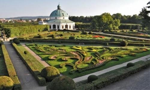 Zdjęcie CZECHY / Morawy / Kromwriż / Kromeriż, ogród kwiatowy