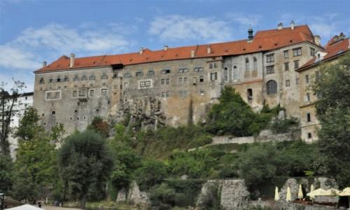 Zdjecie CZECHY / Południe / Krumlov / Krumlov, panorama zamku