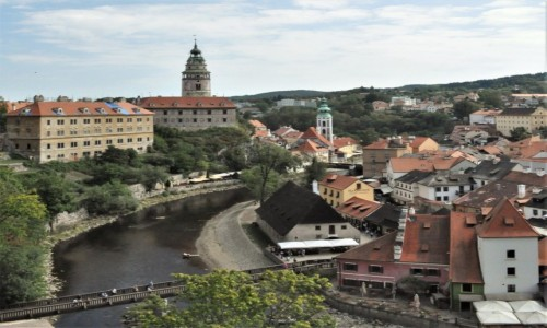 Zdjecie CZECHY / Południe / Krumlov / Krumlov, panorama