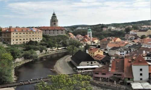 CZECHY / Południe / Krumlov / Krumlov, panorama