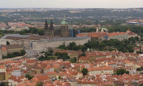 Zdjecie CZECHY / brak / Praga / Praga z lotu ptaka