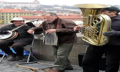 CZECHY / brak / Praga / Band na Moście Karola