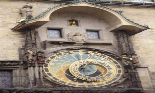 Zdjęcie CZECHY / k.środkowoczeski / Praga / zegar Orloj