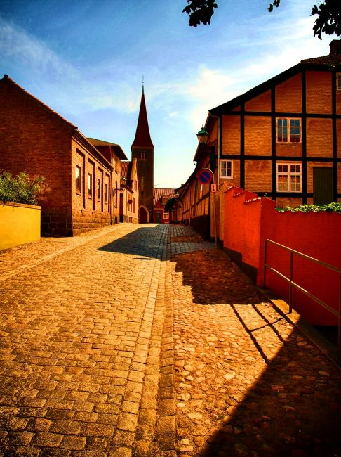 Zdjęcia: Miasto Ronne, wyspa Bornholm, Uliczki Ronne., DANIA