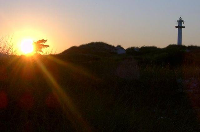 Zdjęcia: Plaża Dueodee, Bornholm, Zachód słońca na Bornholmie, DANIA