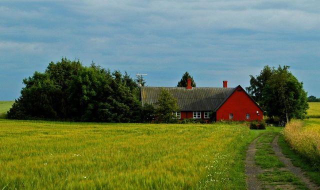 Zdj�cia: Wyprawa Rowerowa Dookola Bornholmu, Bornholm, Nasza baza wypadowa, domek posrodku niczego ... , DANIA
