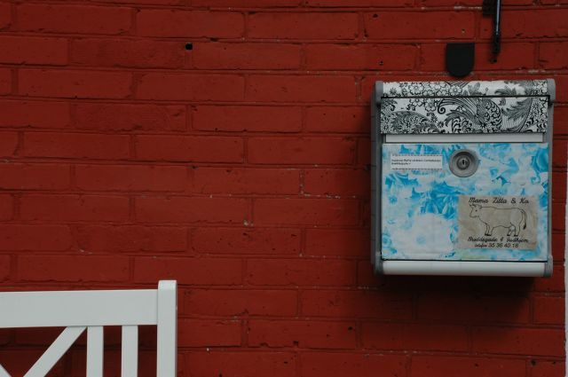 Zdjęcia: Gudhjem, Bornholm, skrzynka na listy, DANIA