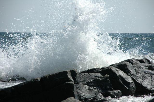 Zdj�cia: Gudhjem, Bornholm, morze, DANIA