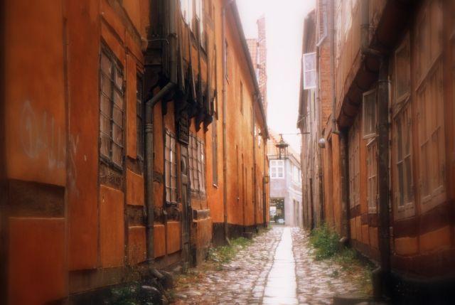 """Zdjęcia: Helsingor, Północna Zelandia, """"Szekspirowska"""" uliczka, DANIA"""