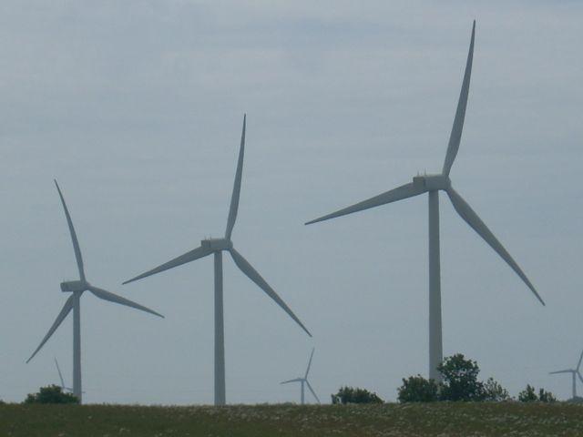 Zdjęcia: Bornholm, Duńskie wiatraki, DANIA