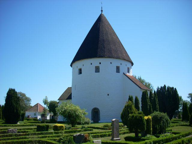 Zdjęcia: Ro, Bornholm., Bornholm. Kościół obronny., DANIA